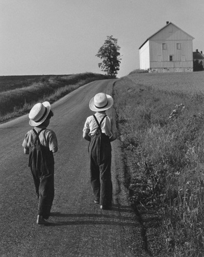 George Tice, Two Amish Boys