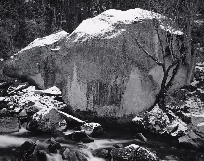Ansel Adams, Rock and Powdered Snow